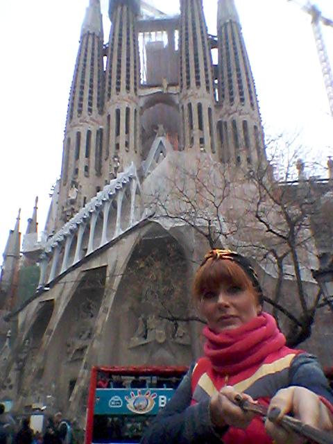 selfie Sagrada Familia Barcelona