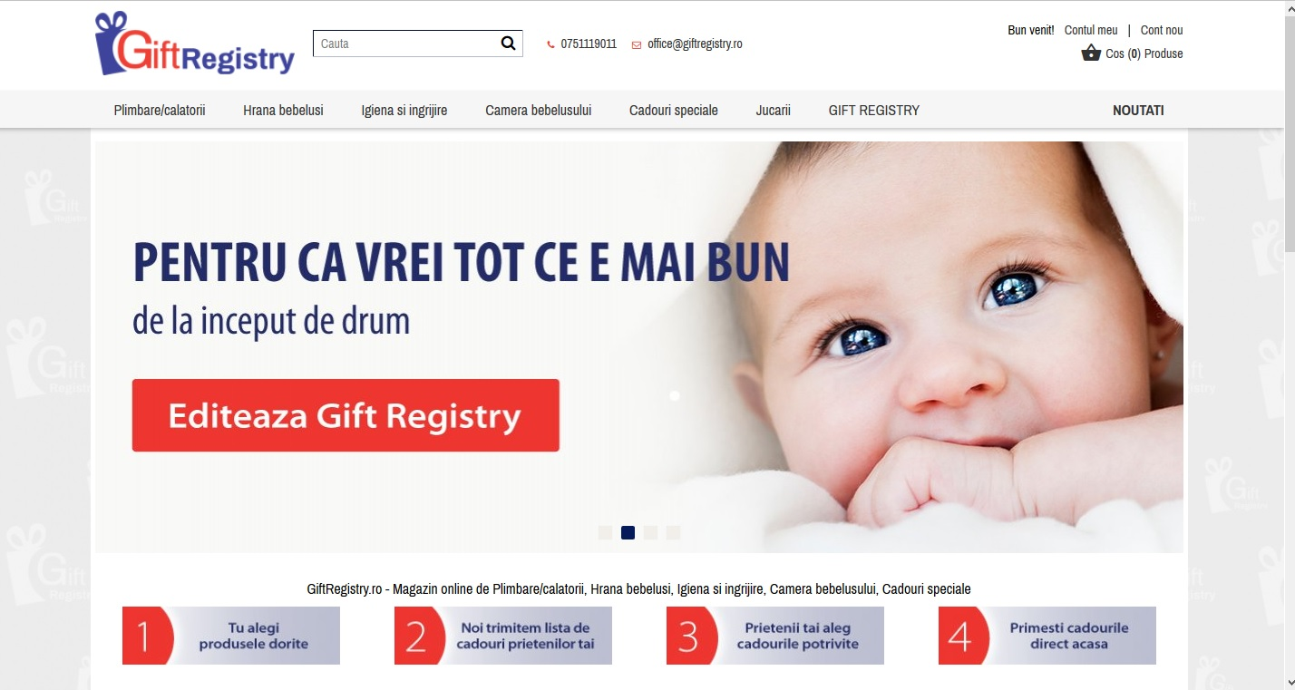 registru de cadouri Gift Registry
