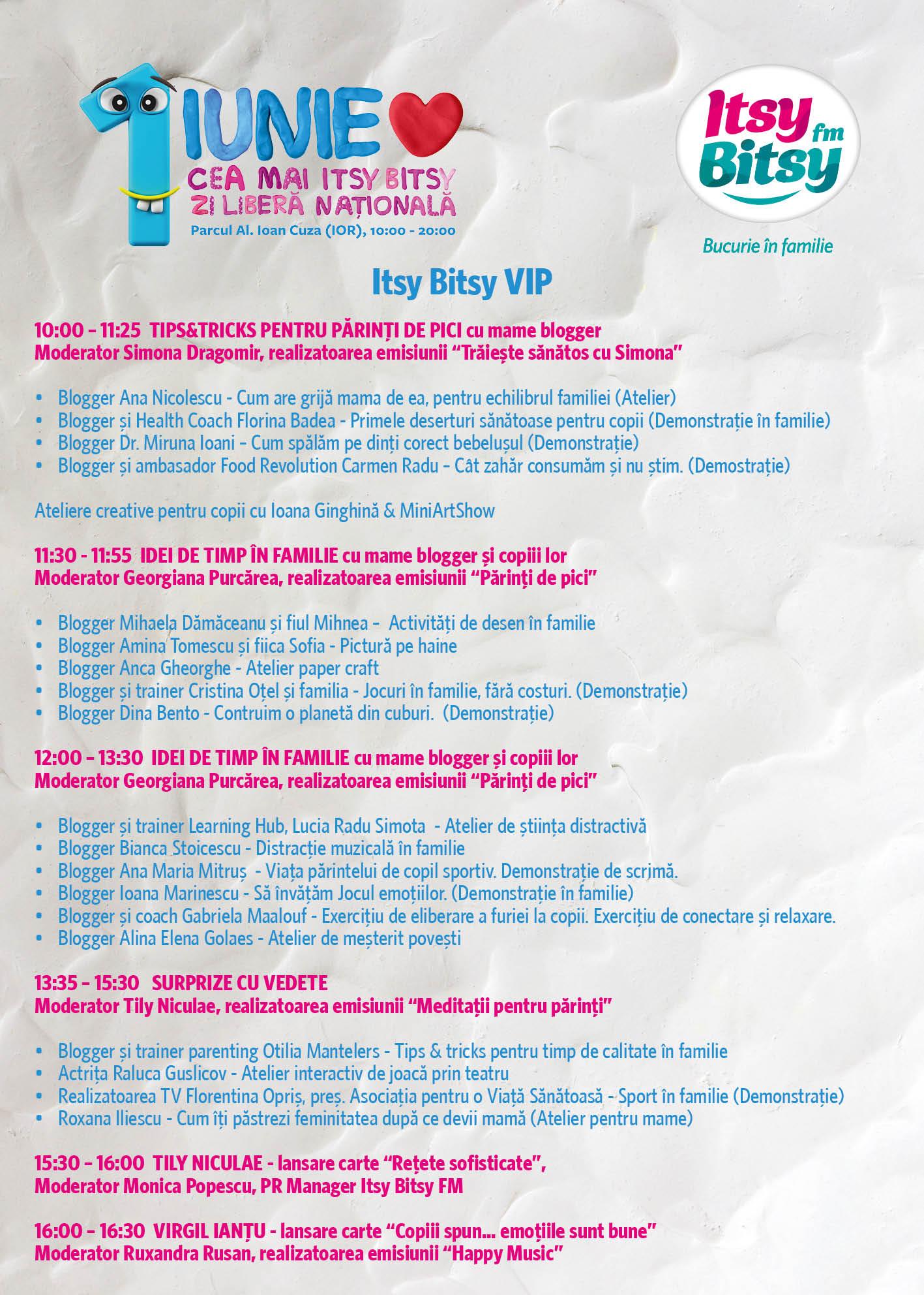 itsy bitsy 1 iunie VIP