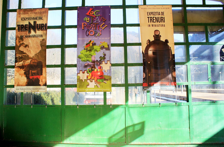 expozitia de trenulete Gara Regala Sinaia