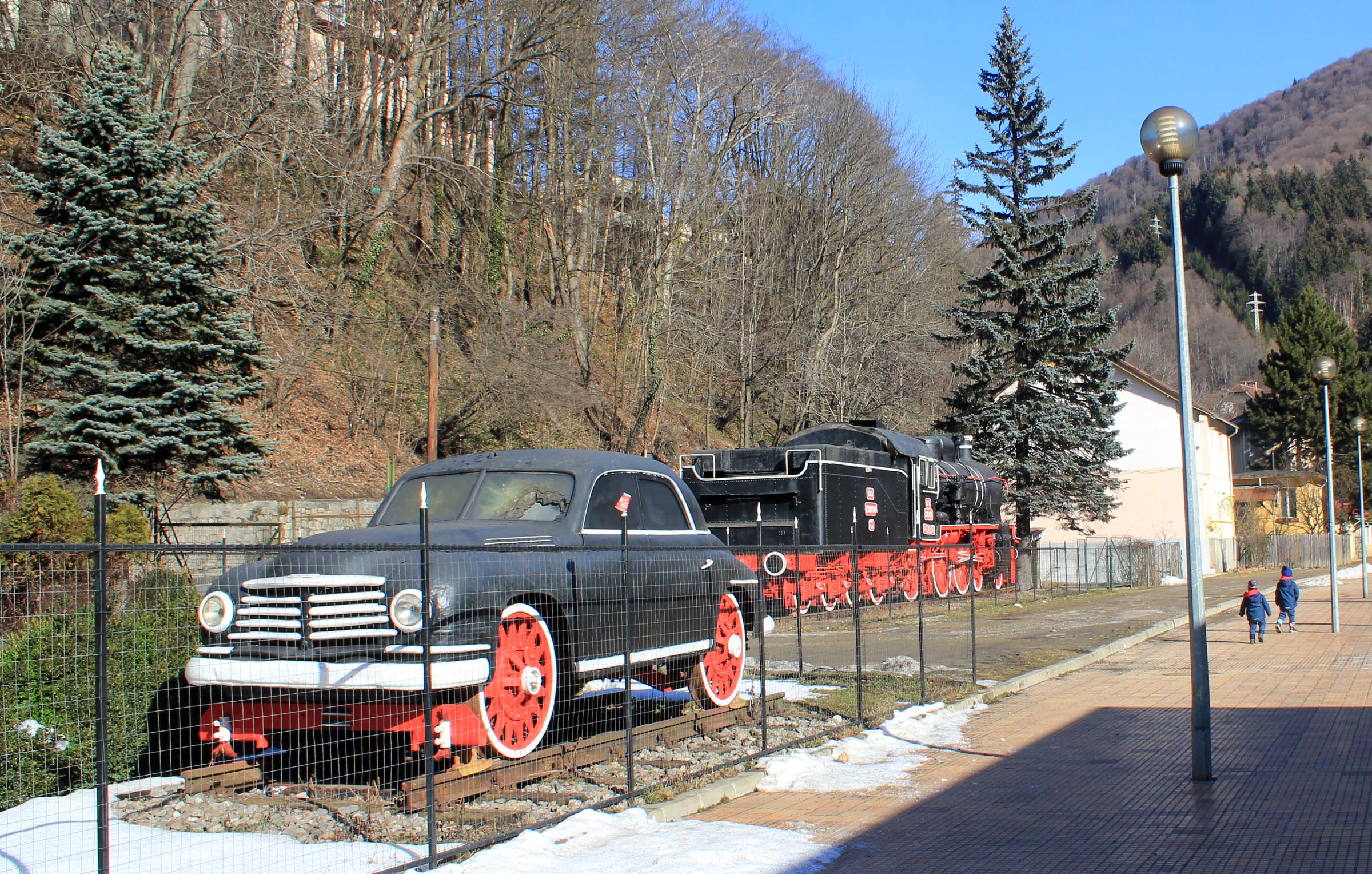 Gara Sinaia locomotiva aburi