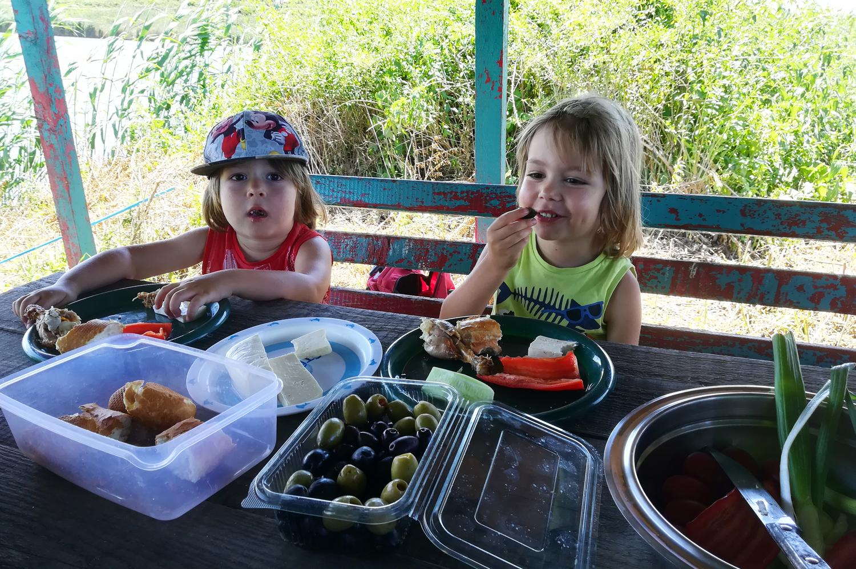 copii picnic pescuit darvari