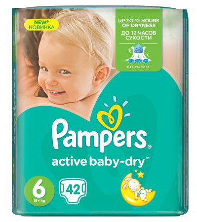 pampers-active-baby-dry gel super absorbant