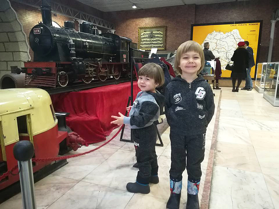 Muzeul CFR Gara de Nord locomotive copii