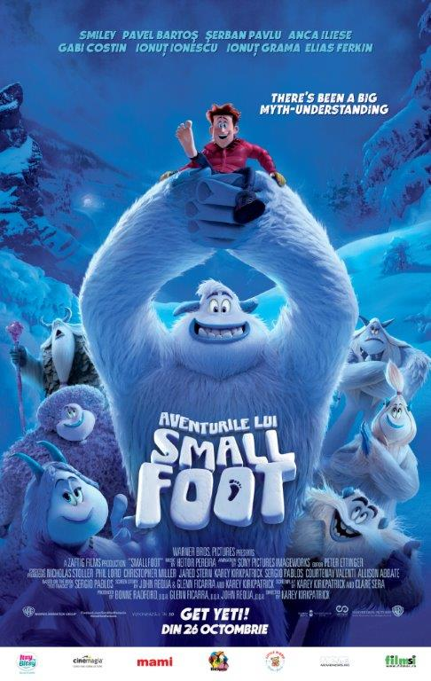 afis smallfoot animatie film copii
