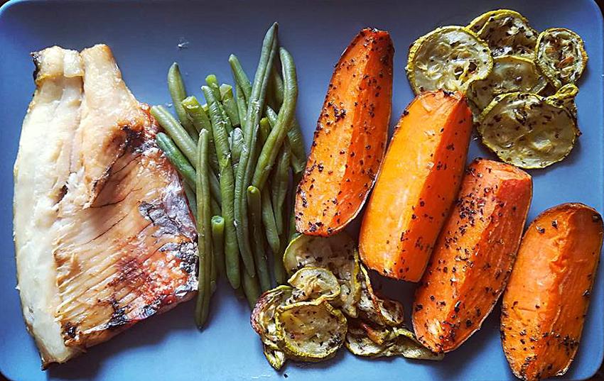 pranz sanatos peste cartofi dulci legume