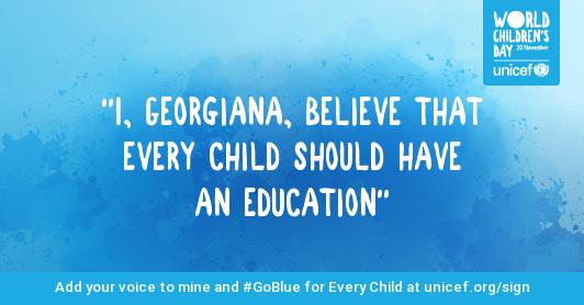UNICEF petitie drepturile copilului