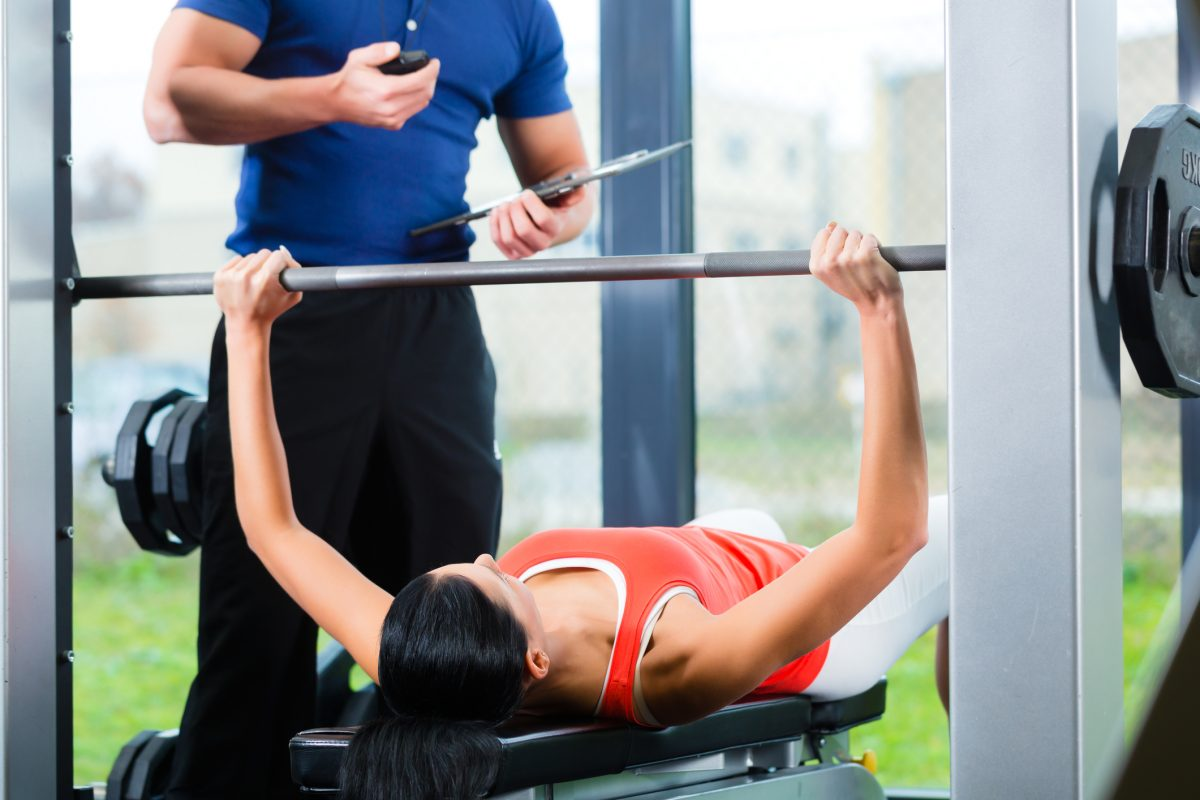 femeie sport antrenor personal tehnica