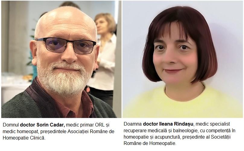 dr. Sorin Cadar, dr. Ileana Rindasu. medici homeopatie