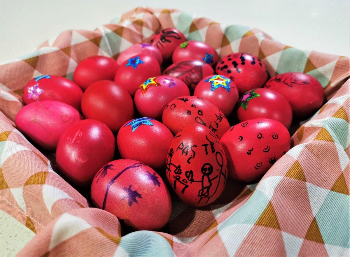 oua rosii paste copii