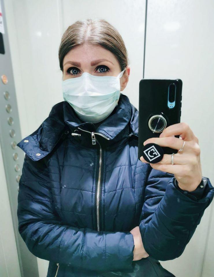 femeie masca epidemie covid