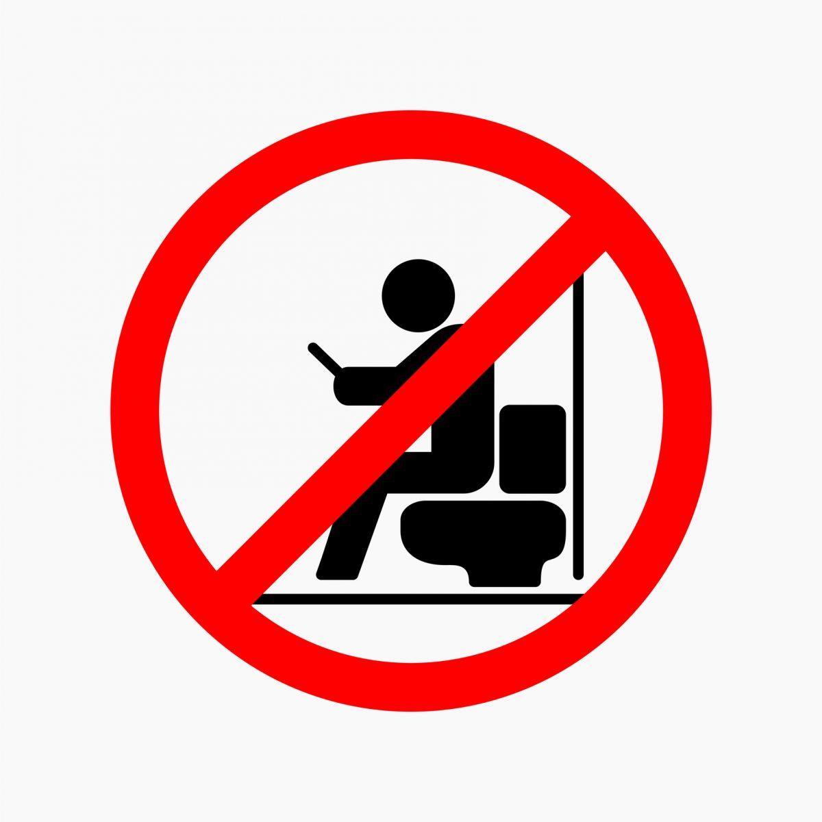 telefon toaleta interzis