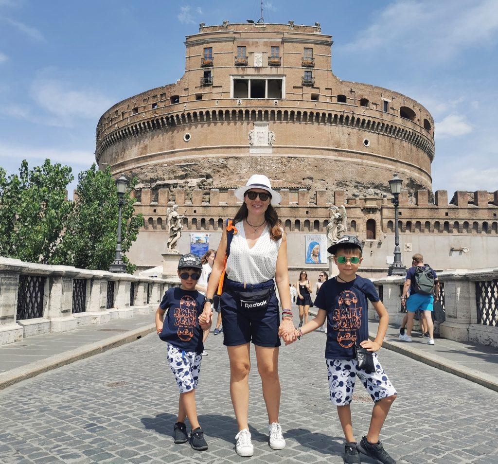 cu copiii la roma castel sant angelo